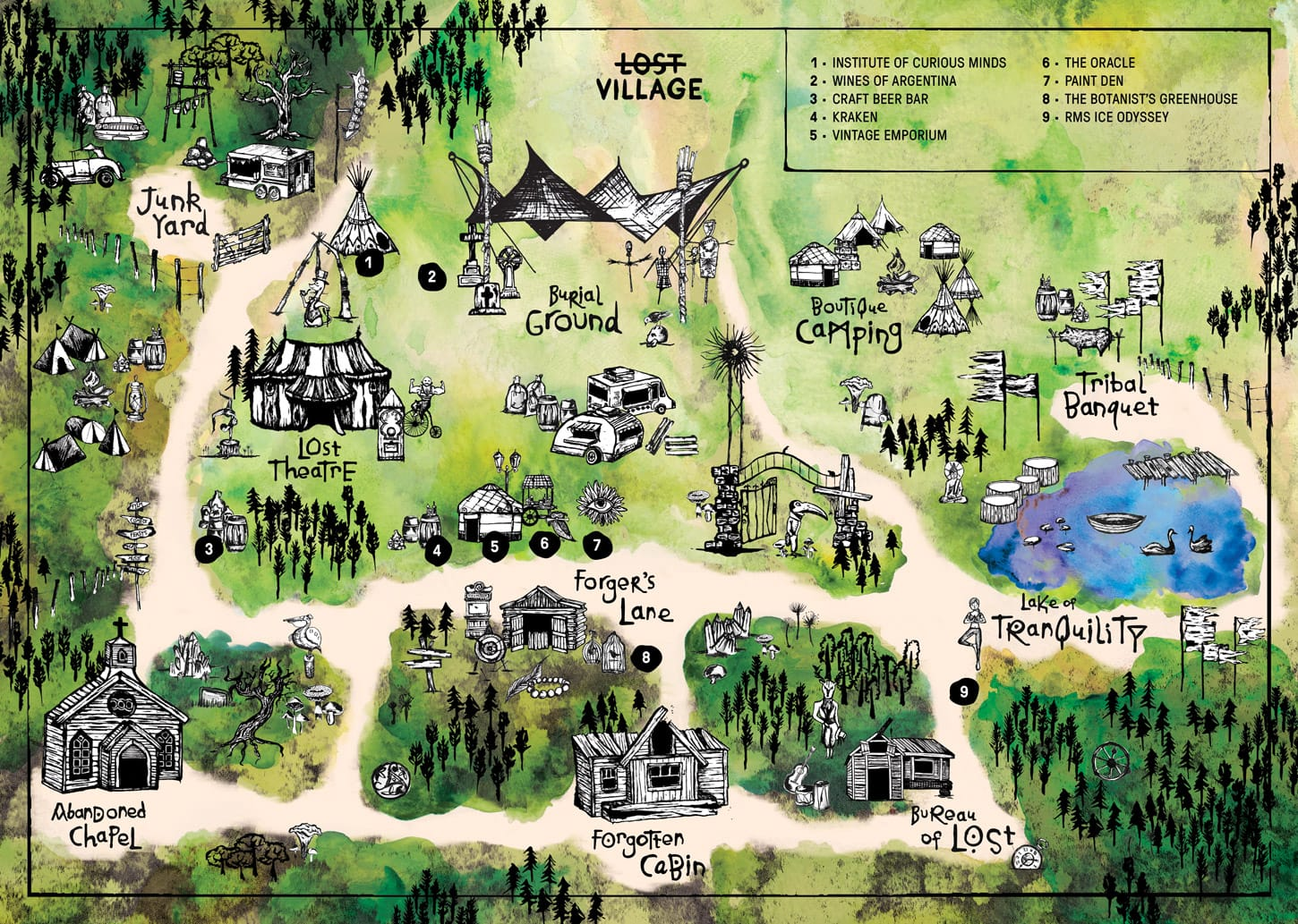 Lost Village Map